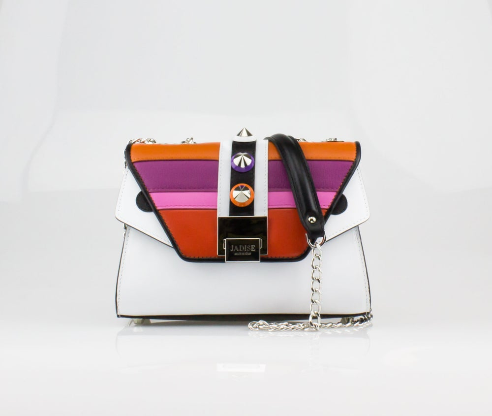 Image of SILVIE MORIZ   Art. 026106 Black / White / Orange / Violet