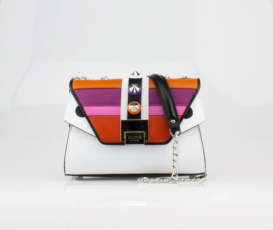 Image of SALE 30%  SILVIE MORIZ   Art. 026106 Black / White / Orange / Violet