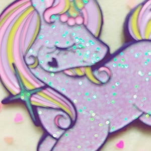 Image of GLITTERY UNICORN 🦄 ENAMEL PIN