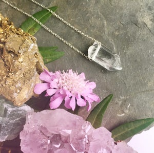 Image of Mini Quartz Zeus Necklace - Sterling Silver / Gold Filled