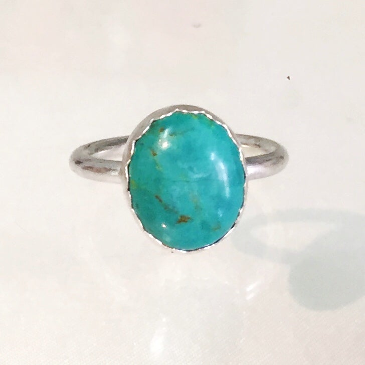 Image of Sterling Silver Turquoise Ring