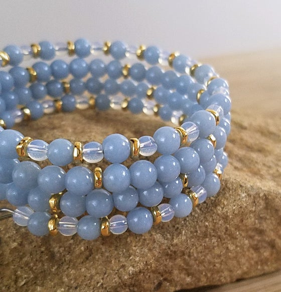 Image of Angelite Wrap Bracelet
