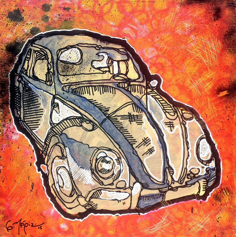 "Image of ""Cream Orange VW Bug"""