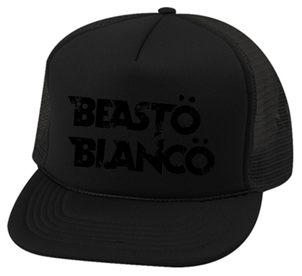 "Image of OFFICIAL - BEASTO BLANCO ""BLACK ON BLACK"" TRUCKER HAT"