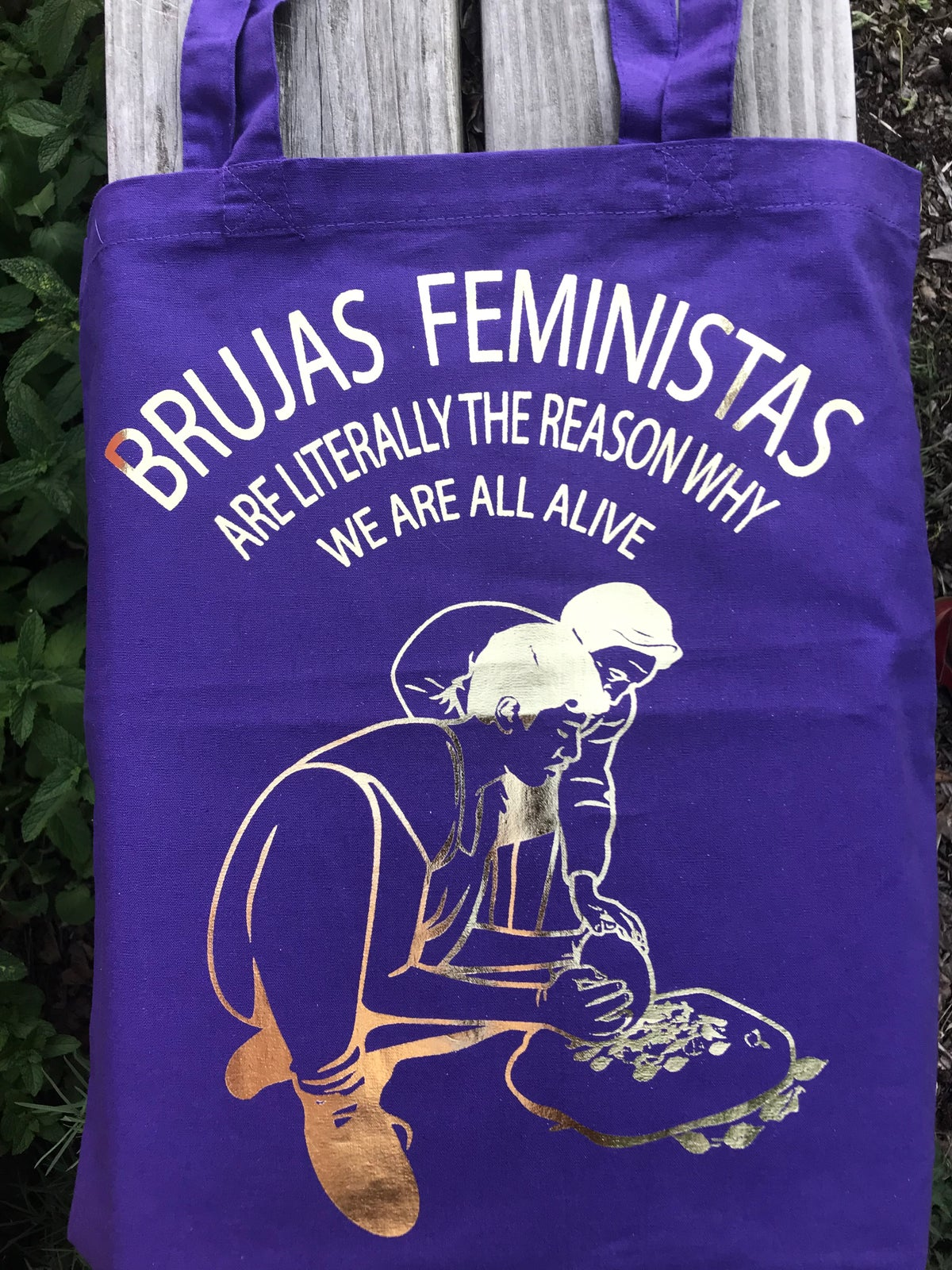 Image of Brujas Feministas Cotton Tote Bag