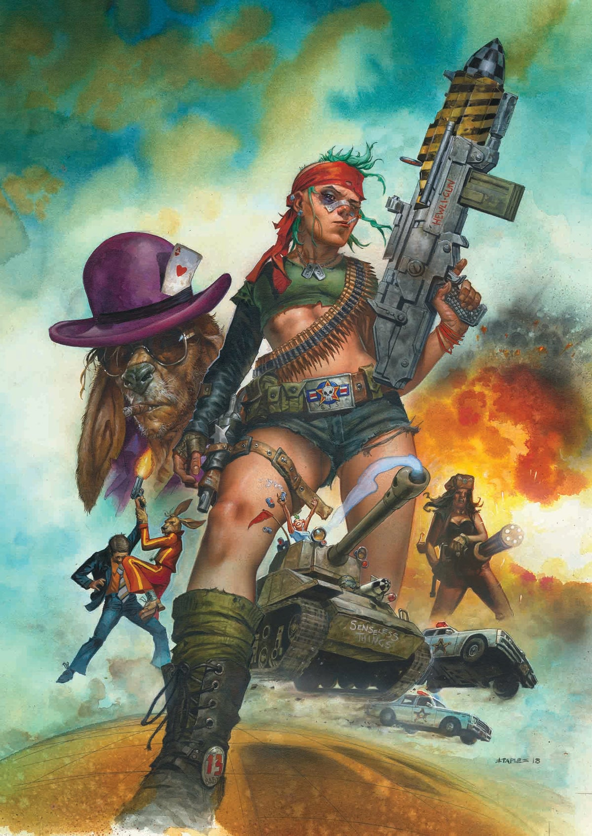 Image of EXCLUSIVE - Hand Signed - Tank Girl All Stars - Greg Staples Variant (with A2 poster!)