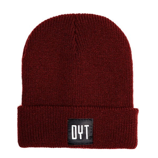 Image of BEANIE DYT BURGUNDY