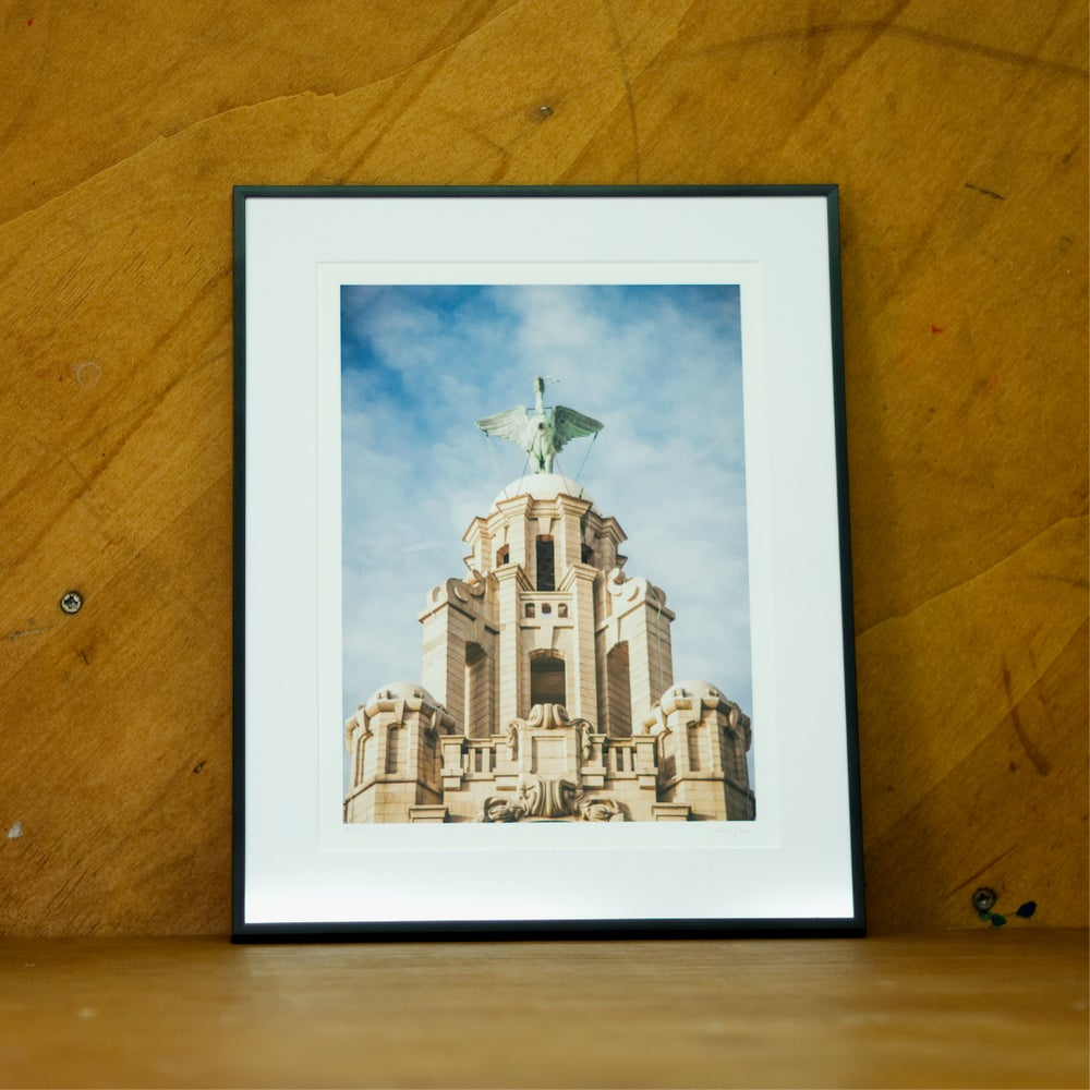 Image of John Johnson Liverbird Print (Framed)