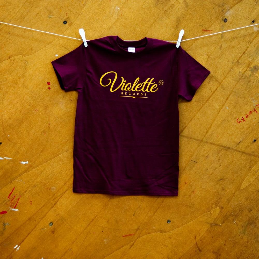 Image of Violette Social T-shirt (Maroon)