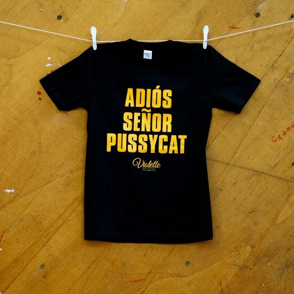 Image of Adios Senor Pussycat T-shirt (Violette Social)