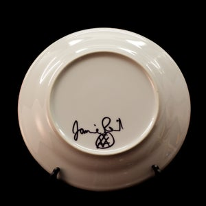 Image of God Save The Florrie Decorative Plate Signed by Artist Jamie Reid