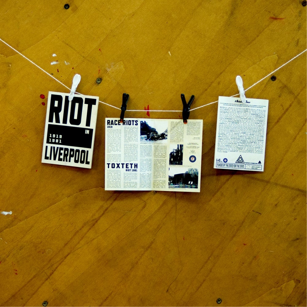 Image of ADP RIOT tour flyer (Liverpool)