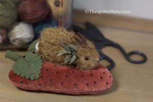 Image of KIT ~ Bunny on a Berry ~ Red Velvet ~ Brown Bunny