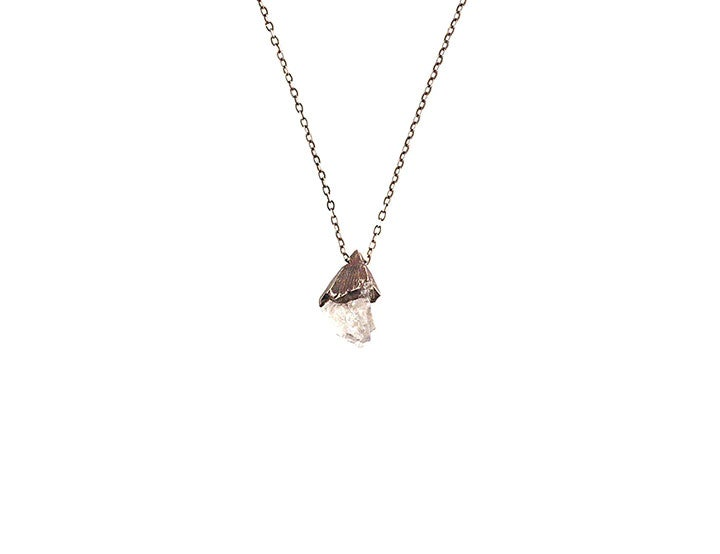 Image of One of a Kind Rose Quartz Small Pendant Necklace