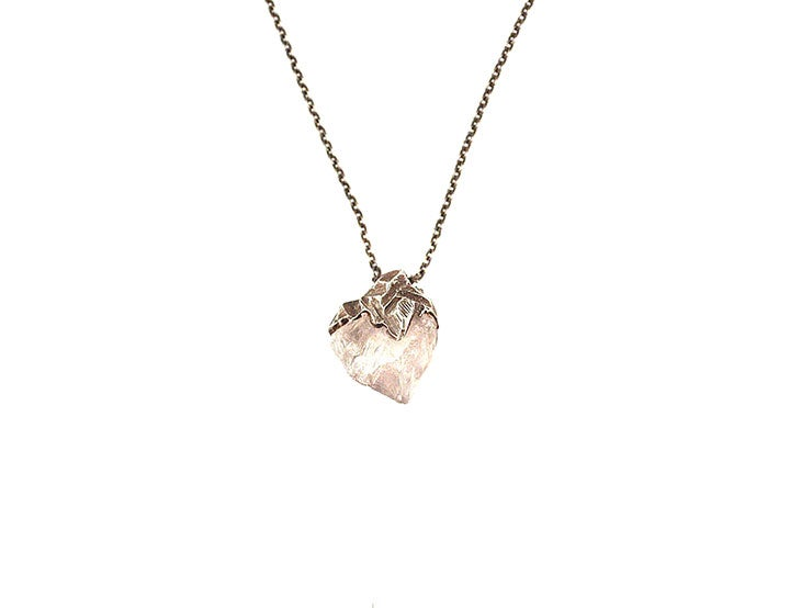 Image of One of a Kind Rose Quartz Medium Pendant Necklace