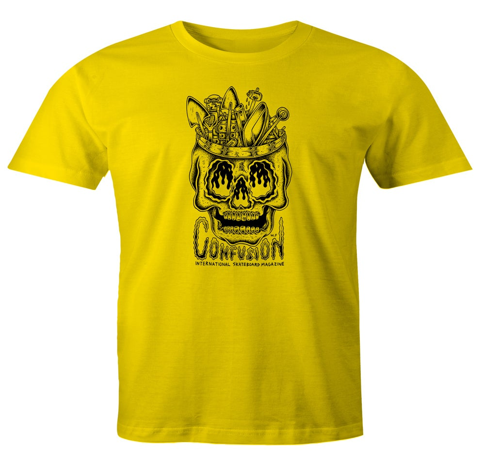 Image of Confusion - DIY SKULL t-shirt [yellow]