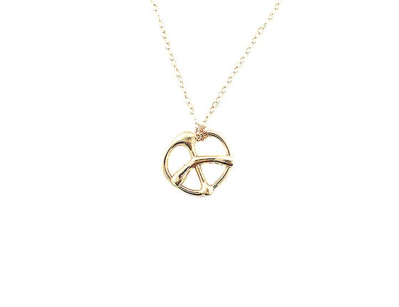 Image of Gold Peace Pendant Necklace