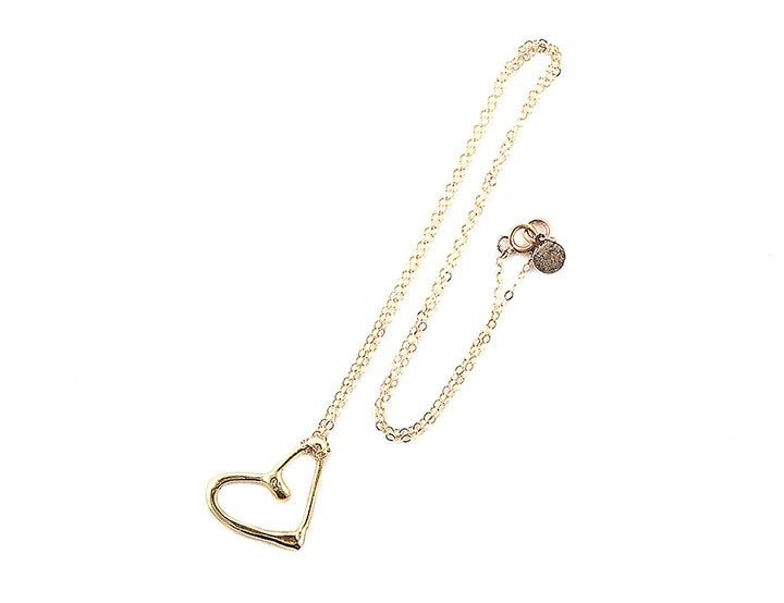 Image of Gold Heart Pendant Necklace