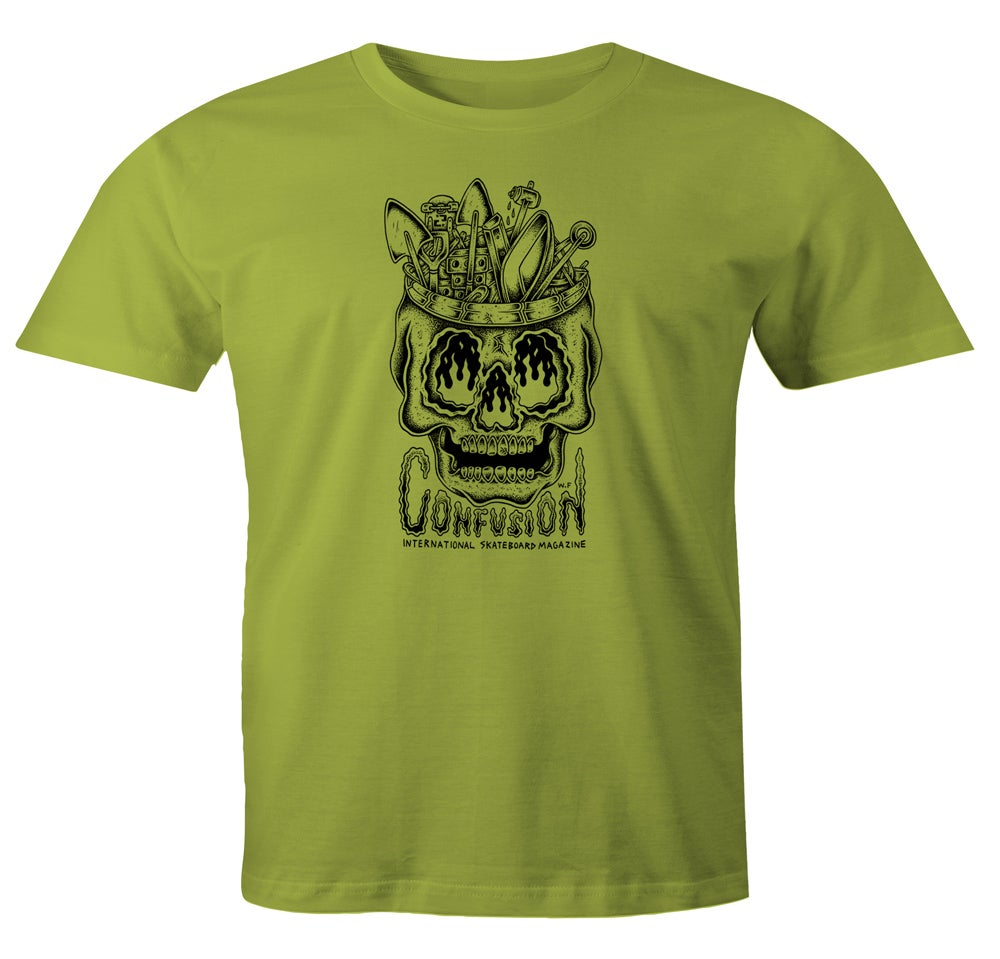 Image of Confusion - DIY SKULL t-shirt [green]