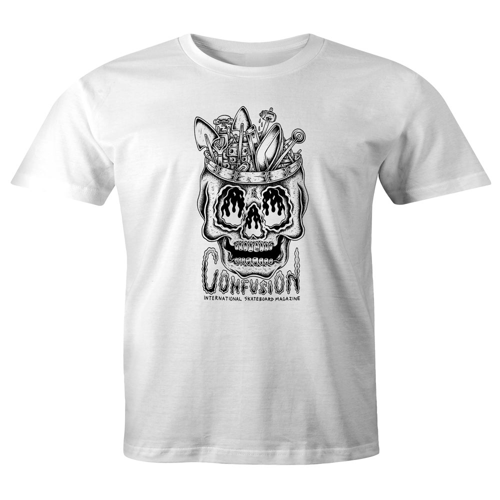 Image of Confusion - DIY SKULL t-shirt [white]