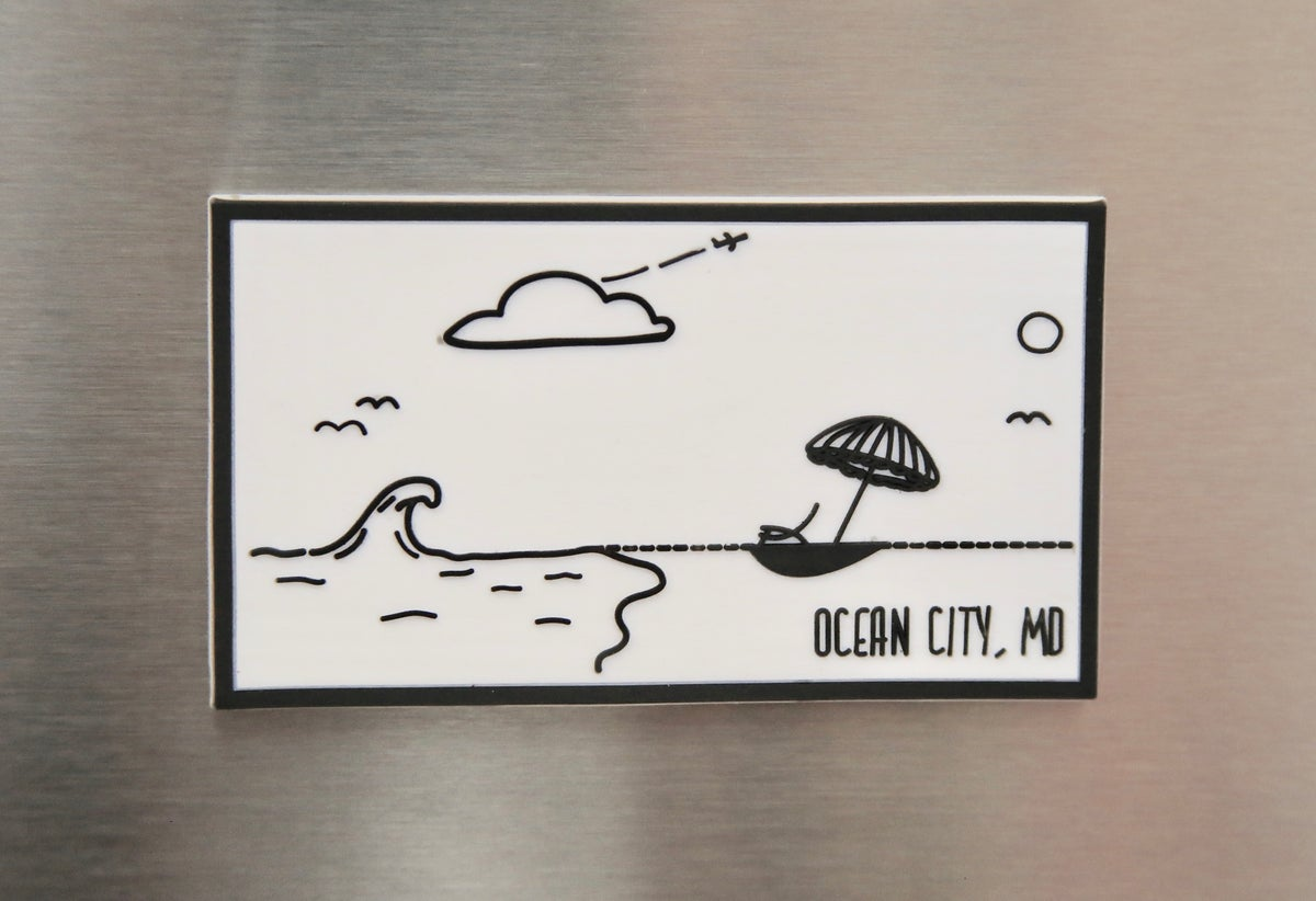 Image of Ocean City, Maryland Beach Magnet