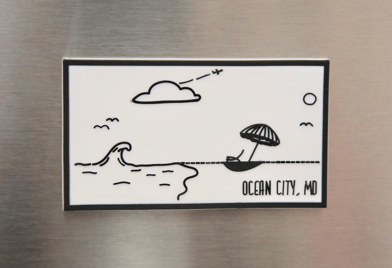 Image of Ocean City, Maryland Beach Magnet