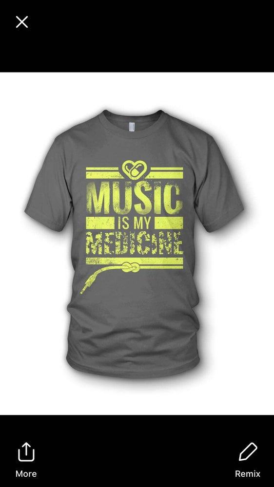 Image of Music Is My Medicine - Yellow On Grey - MIND