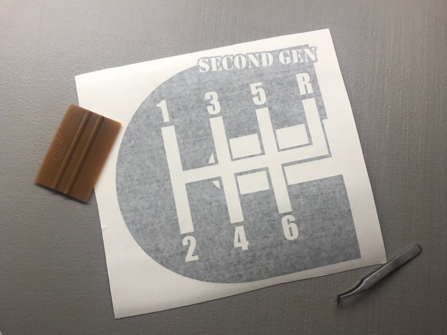 """Image of 12"""" Second gen decal"""