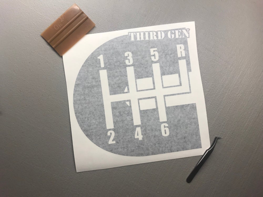 "Image of 12"" third gen decal"