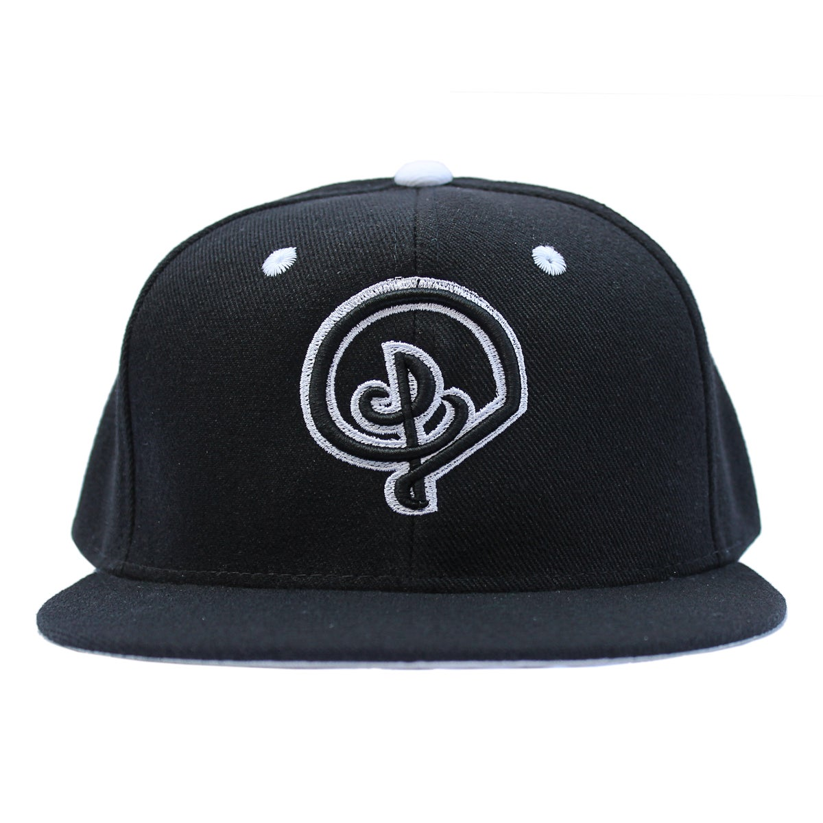Image of BLACK W/ WHITE D LOGO SNAPBACK