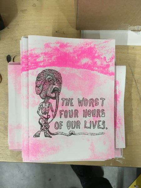 Image of the worst four hours of our lives ZINE