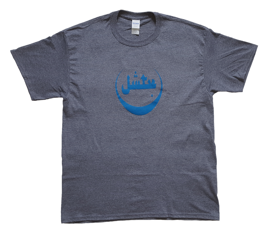 Image of Blue Logo T-Shirt (Grey)