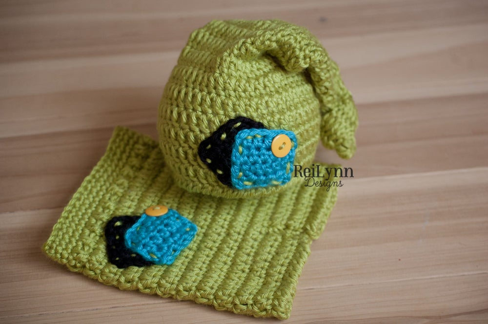 Image of Knot Top Hat and Shorties Photography Prop Set in Chartreuse, Black, Turquoise and Yellow