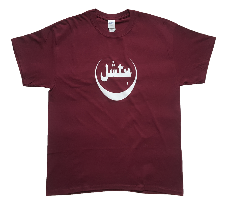 Image of White Logo T-Shirt (Burgundy)