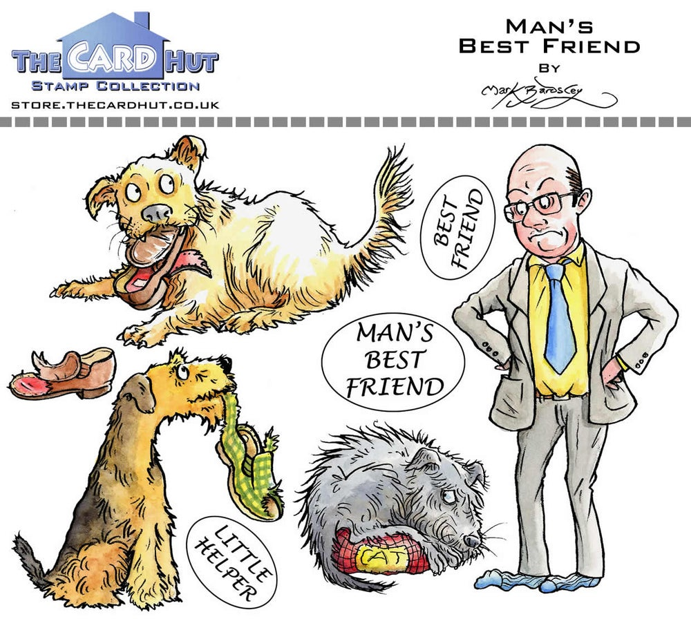 Image of Mark Bardsley Man's Best Friend stamp collection