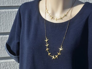 Image of sparrow linked necklace chain