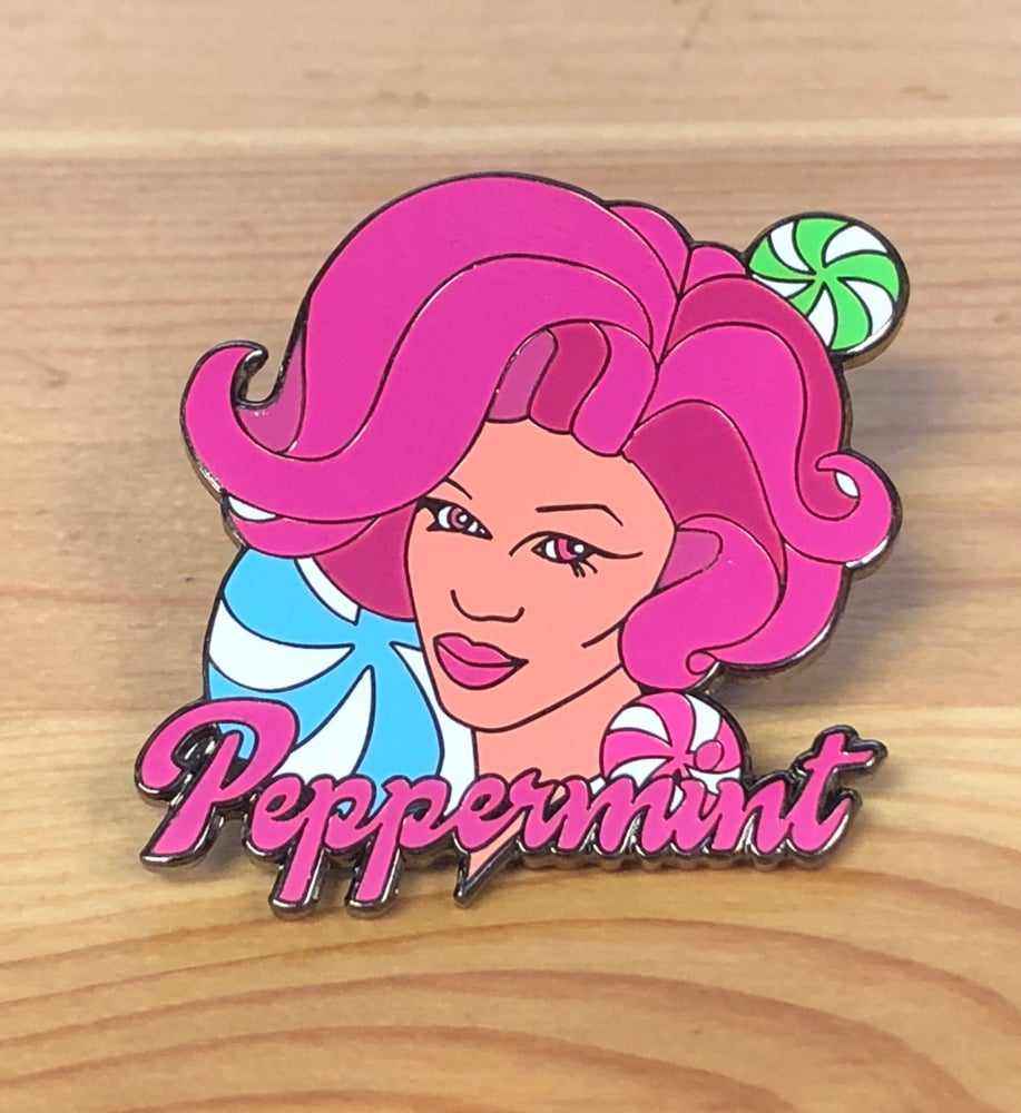 Image of Peppermint Pink Enamel Pin