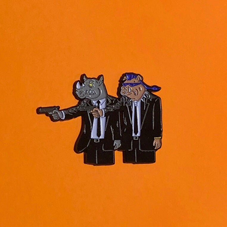 Image of Bebop and Rocksteady Pin