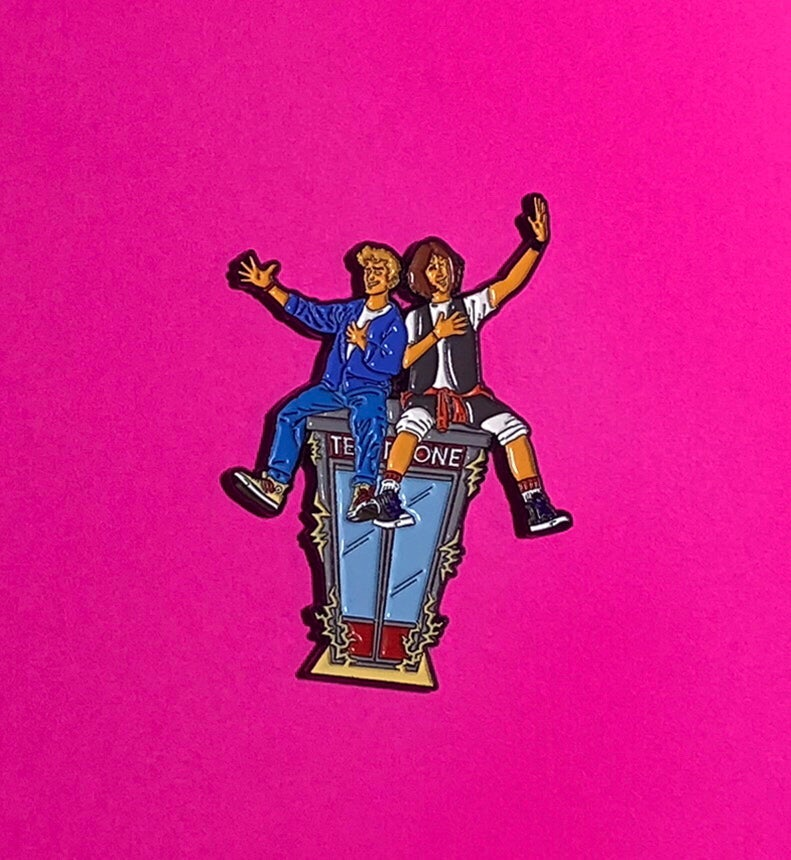 Image of Bill & Ted Pin- 2.25""