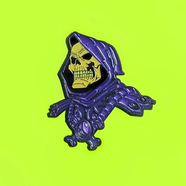 Image of Skeletor Pin- Glows in the Dark