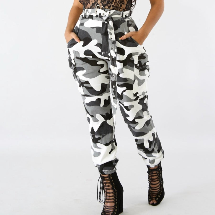 Image of Tammi Grey camo pants