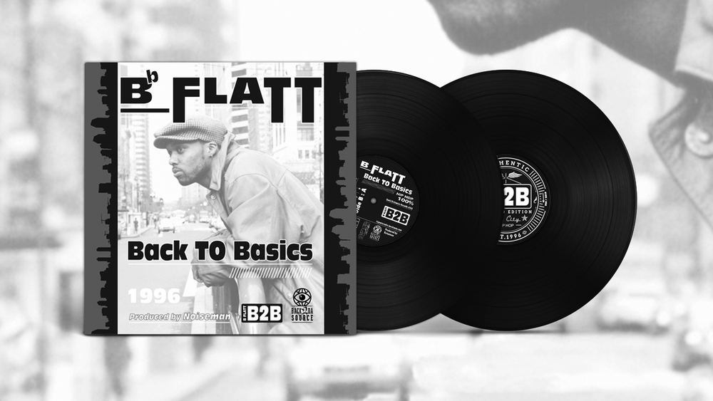 Image of B-Flatt - Back To Basics (2xLP) (FINALLY ON WAX!!) PRE ORDER NOW +CONTEST