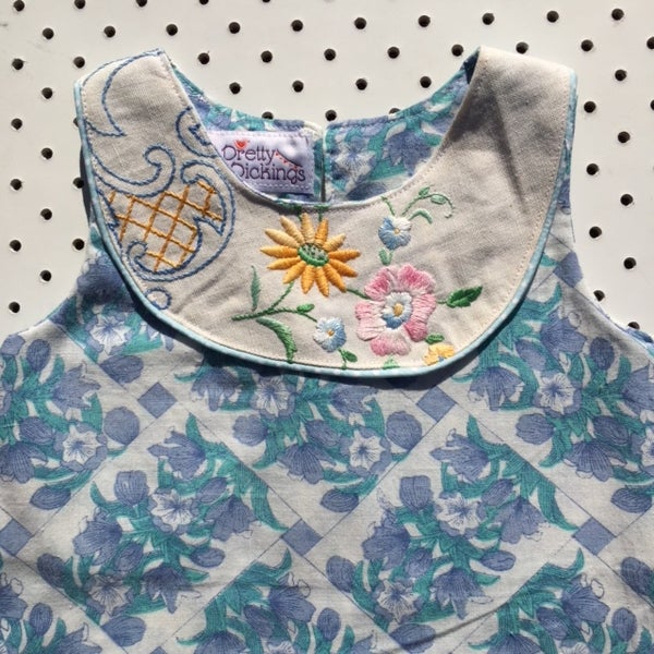 Image of Sweet Stitches dress - size 1 - bluebells