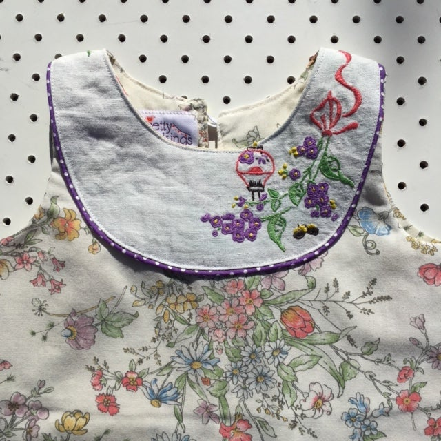 Image of Sweet Stitches dress - size 1 - cottage garden