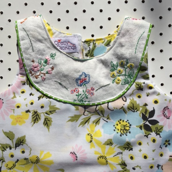 Image of Sweet Stitches dress - size 1 - pastel floral