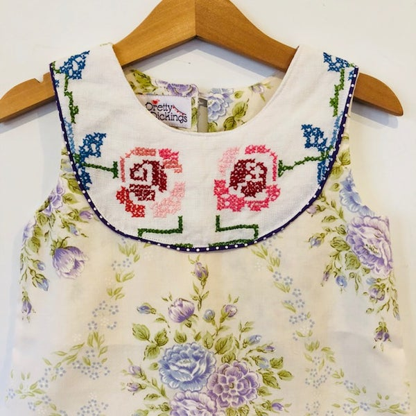 Image of Sweet Stitches dress - size 3 - lilac bouquet