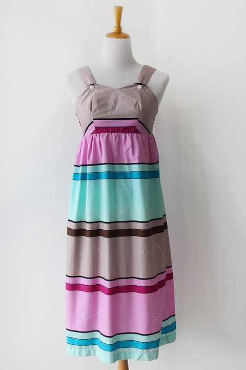 Image of SOLD Stripes And Angles Weekend Dress (Was $58)