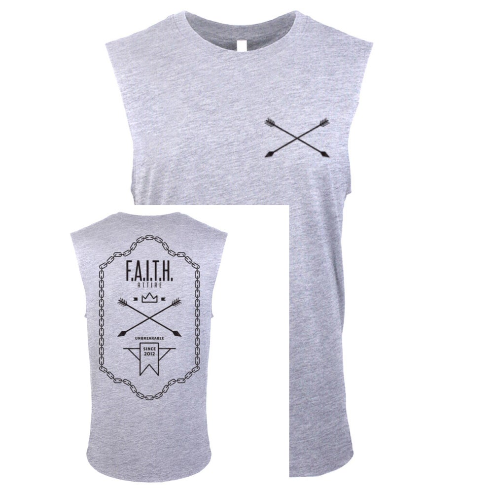 "Image of ""Unbreakable"" Heather Grey Muscle Tank"