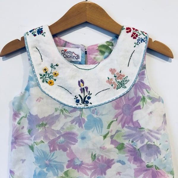 Image of Sweet Stitches dress - size 2 - vitange lilac