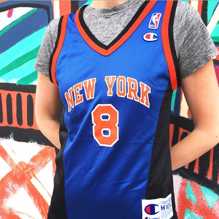 new style 043e7 f019e Vintage 1990's New York Knicks Latrell Sprewell Champion Jersey Sz.M (Youth)